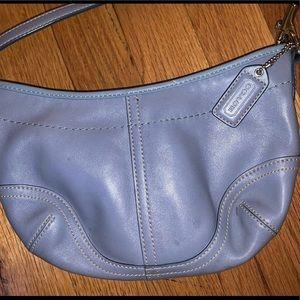 Coach blue mini purse